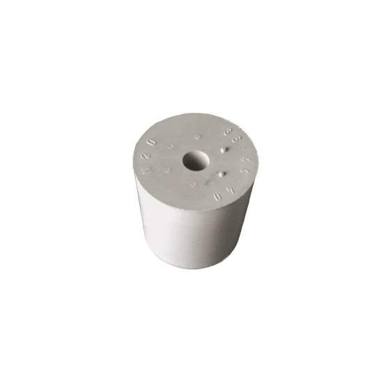 rubber stop grijs D55/47 met gat 17mm