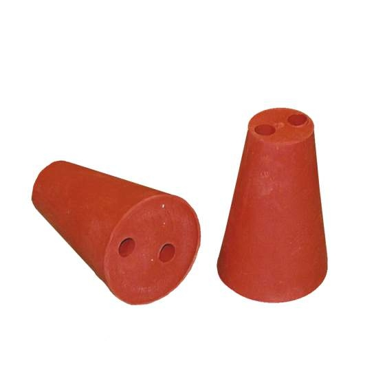 rubber stop rood 35/60mm + 2x10mm gaten