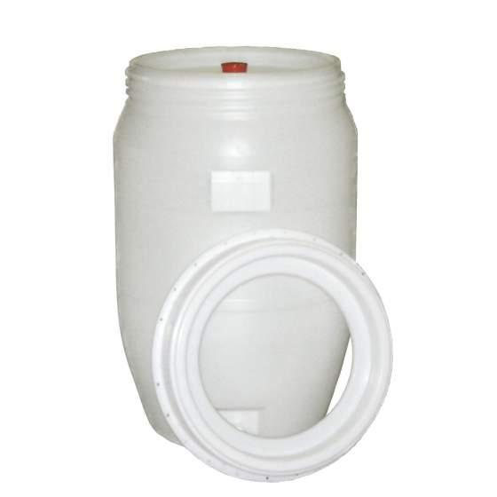 vat plastic rond +kraan+waterslot 120 l