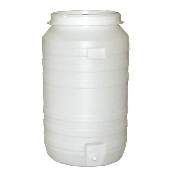 vat plastic rond +kraan+waterslot 210 l