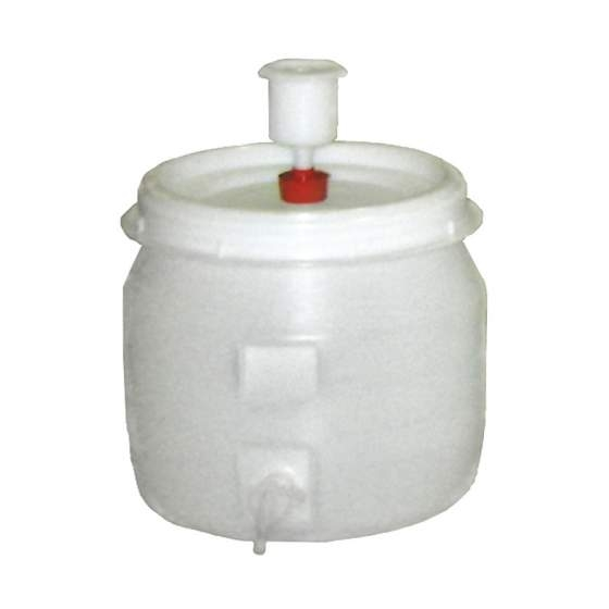 vat plastic rond +kraan+waterslot 30 l