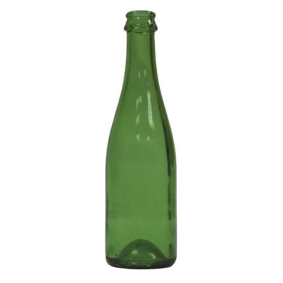 geuze/ciderfles 37,5cl, groen 29mm KK