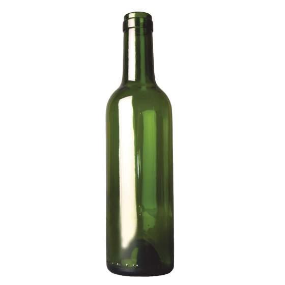 wijnfles bordeaux 37,5 cl, groen