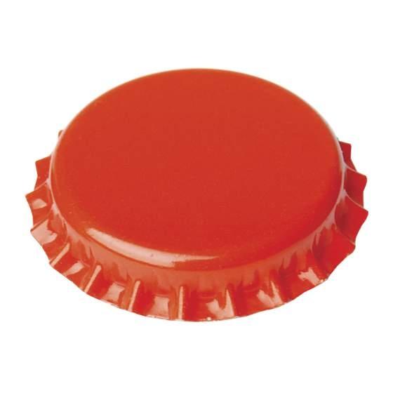 Kroonkurken 26 mm oranje 100 stuks
