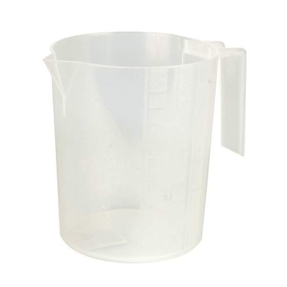 maatbeker gegradueerd wit plastic 1 l
