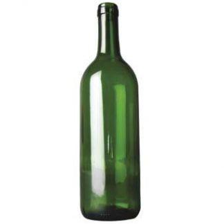 wijnfles bordeaux 75 cl, groen