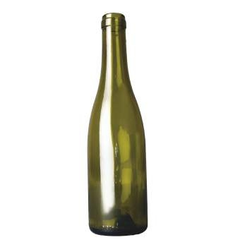 wijnfles bourgogne 37,5 cl, olijfgroen