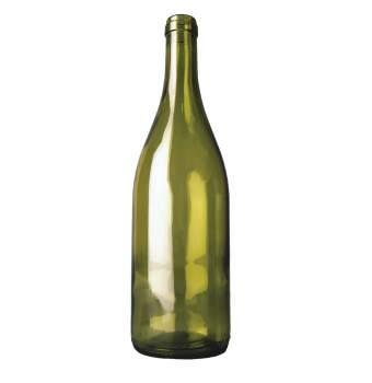 wijnfles bourgogne 75cl, olijfgroen